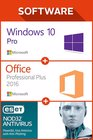 Win 10 Pro + MS Office Pro Plus 2016 1 user + ESET 12 monate